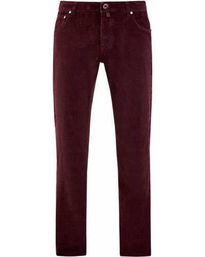 Хлопковые красные зауженные джинсы-скинни Jacob Cohen