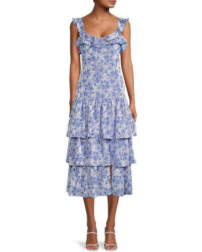 Платье миди - синее Likely