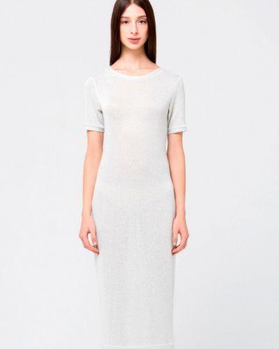 Платье мини осеннее серебряный Minimally