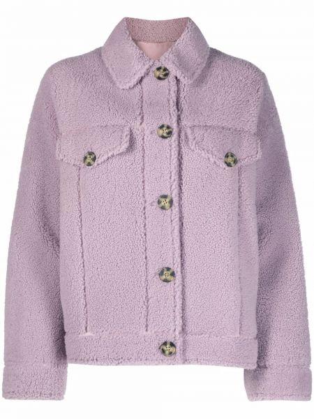 Фиолетовая длинная куртка Yves Salomon Meteo