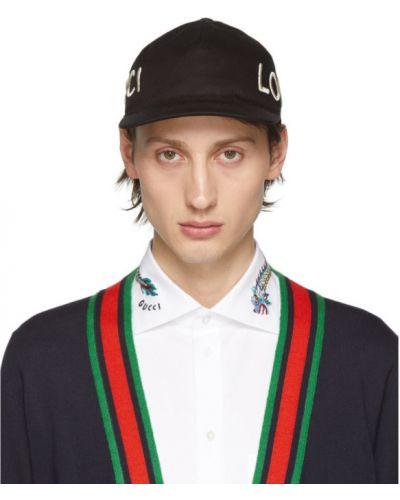 Czapka biały czarny Gucci