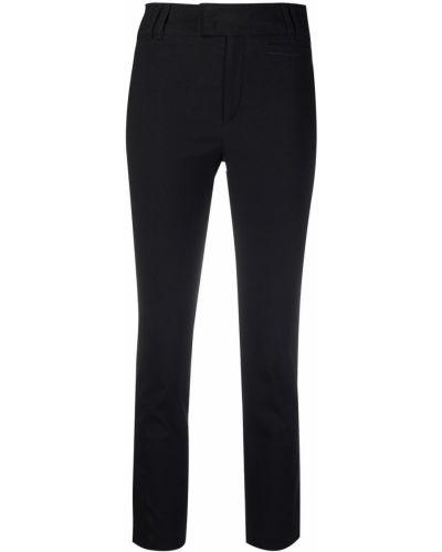 Хлопковые черные укороченные брюки узкого кроя Isabel Marant