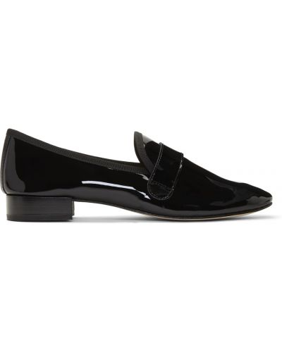 Białe loafers na obcasie Repetto