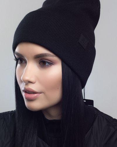 Кашемировая шапка - черная Leks-jolie