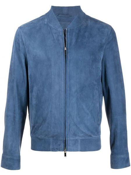 С рукавами прямая синяя куртка с карманами Desa 1972