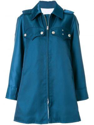 Синее пальто оверсайз с капюшоном Calvin Klein 205w39nyc