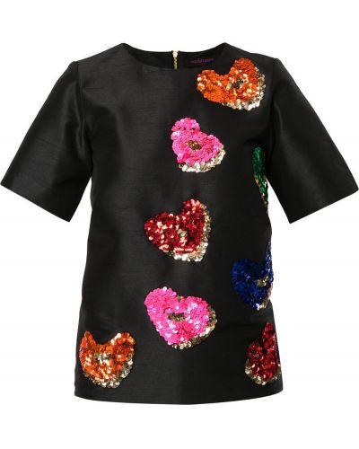 Футбольная черная футболка с пайетками Manish Arora