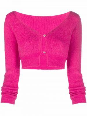 Шерстяной кардиган - розовый Jacquemus