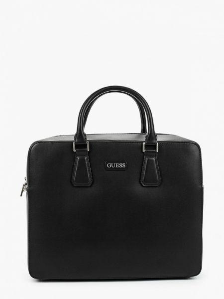 Черная кожаная сумка из искусственной кожи Guess