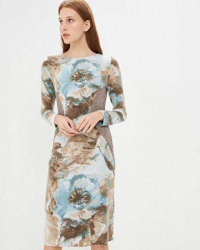 Платье вязаное осеннее Арт-Деко