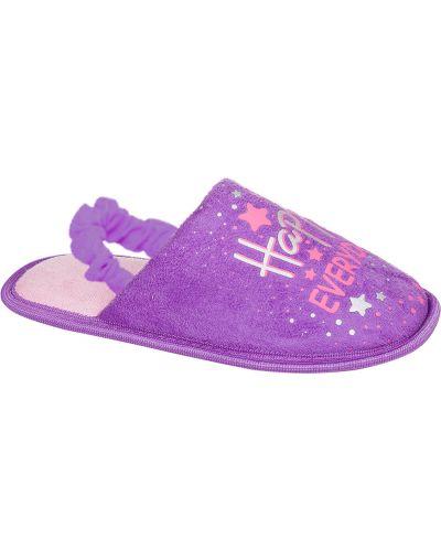 Текстильные фиолетовые тапочки Mursu