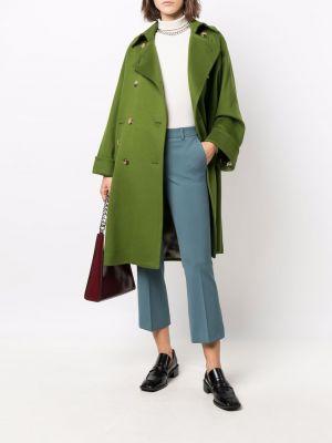 Длинное пальто - зеленое Alberto Biani