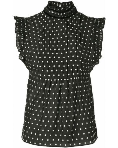 Блузка без рукавов с рюшами в горошек Frame