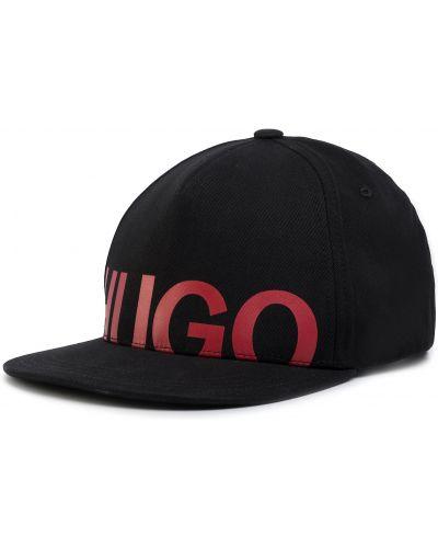 Czarna czapka z daszkiem Hugo