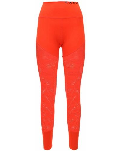 Rajstopy z siateczką - pomarańczowe Adidas Performance