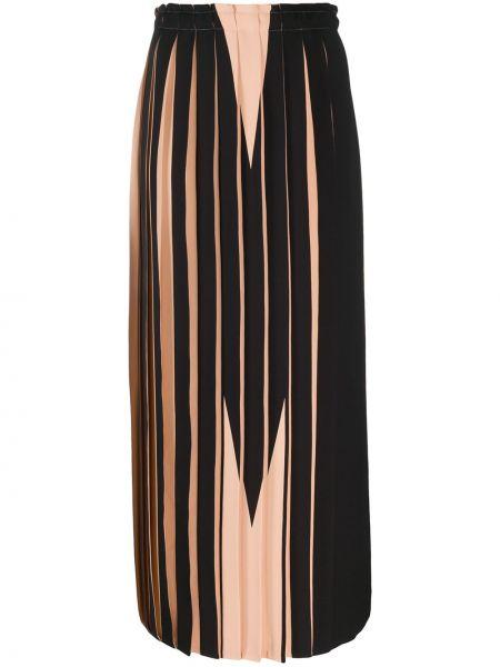 Плиссированная юбка с завышенной талией макси Mm6 Maison Margiela