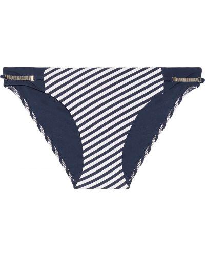 Синий нейлоновый бикини в полоску Heidi Klum Swim