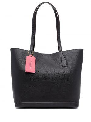 Черная сумка тоут Coach