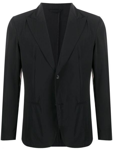 Czarna długa kurtka z długimi rękawami Hydrogen