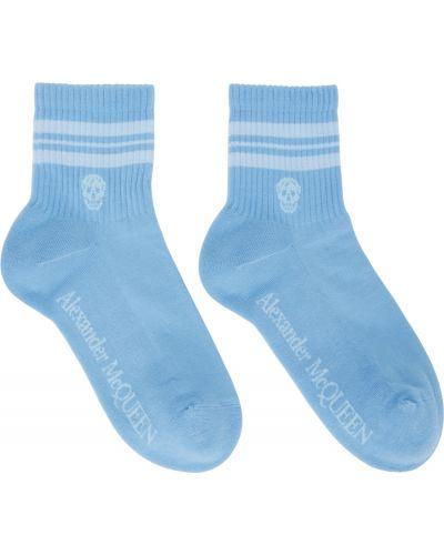 Белые носки в полоску Alexander Mcqueen