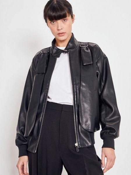 Кожаная куртка черная весенняя Lime