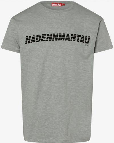 Szara t-shirt z printem Derbe
