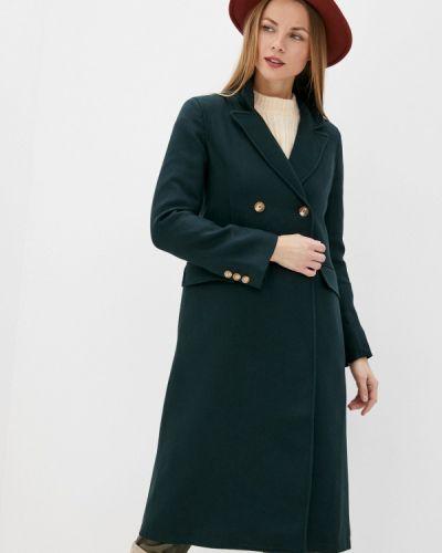 Зеленое пальто двубортное On Parle De Vous