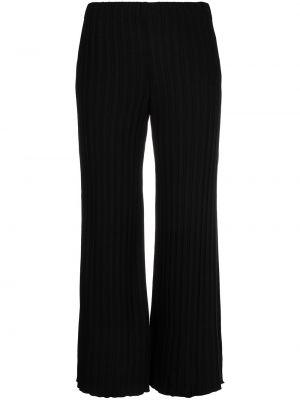 Z wysokim stanem spodni czarny przycięte spodnie Simon Miller