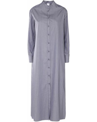 Хлопковое серое платье на пуговицах Max Mara