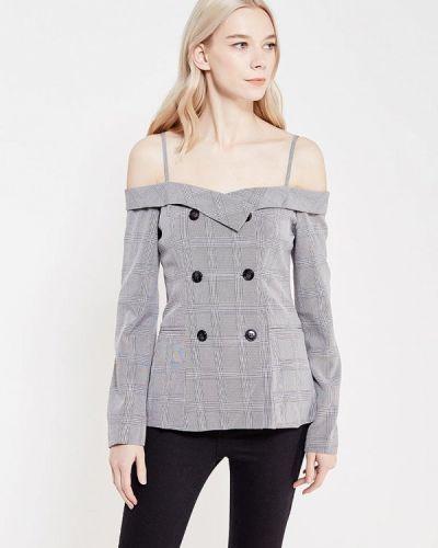 Блузка с открытыми плечами - серая Paccio