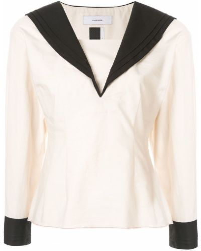 Хлопковая блузка - белая Facetasm