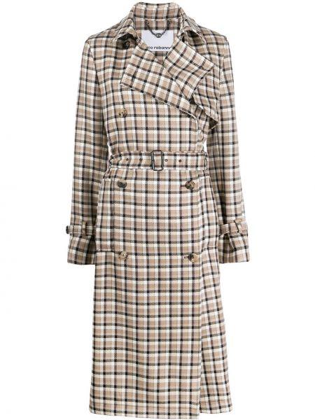 Длинное пальто Paco Rabanne