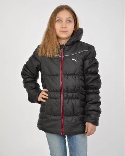 Утепленная куртка черная весенняя Puma