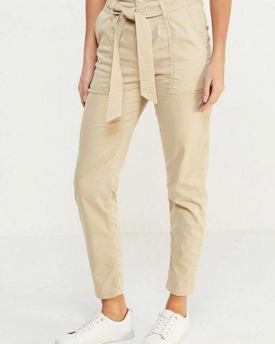 Бежевые брюки зауженные Topshop