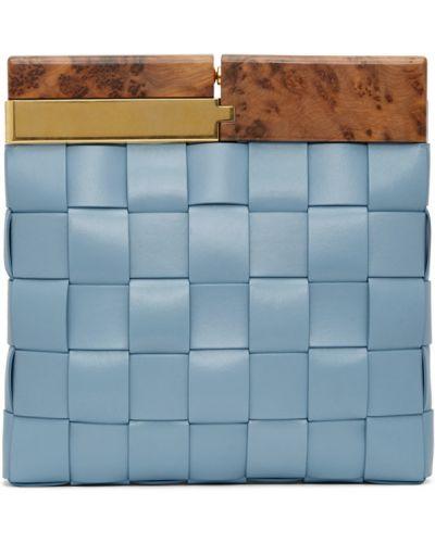 Torba sprzęgło rama niebieski Bottega Veneta