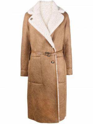 Brązowy płaszcz z klamrą Urbancode