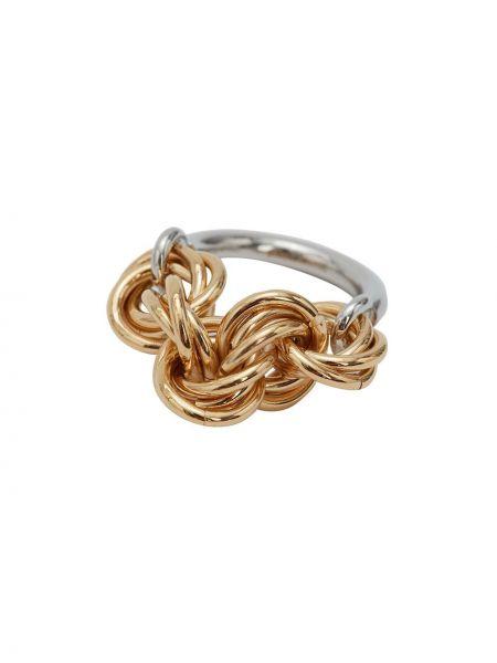 Srebro pierścień pozłacany Jw Anderson