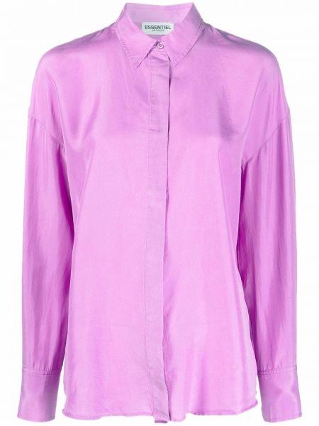 Koszula z jedwabiu - fioletowa Essentiel Antwerp