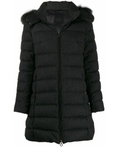 Серое длинное пальто с капюшоном Tatras