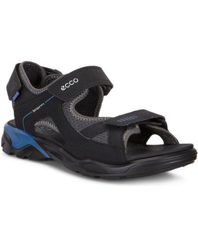 Сандалии черный на каблуке Ecco