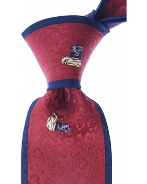 Czerwony krawat z jedwabiu Mila Schon