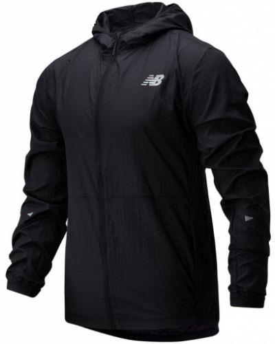 Черная куртка на молнии с карманами New Balance