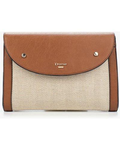 Коричневая кожаный сумка Dune
