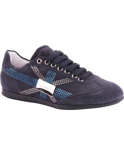 Синие кроссовки замшевые Richmond