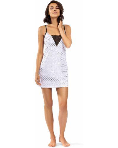 Biała piżama bawełniana koronkowa Lorin