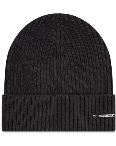 Czapka beanie - czarna Calvin Klein