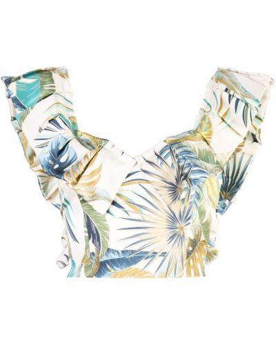 Блузка без рукавов на молнии бежевый Petersyn