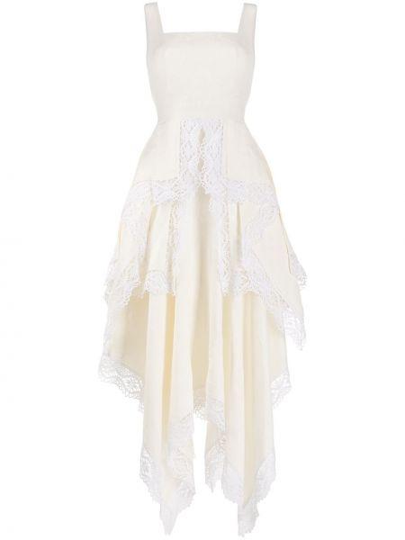 Платье миди на молнии с драпировкой Alexander Mcqueen