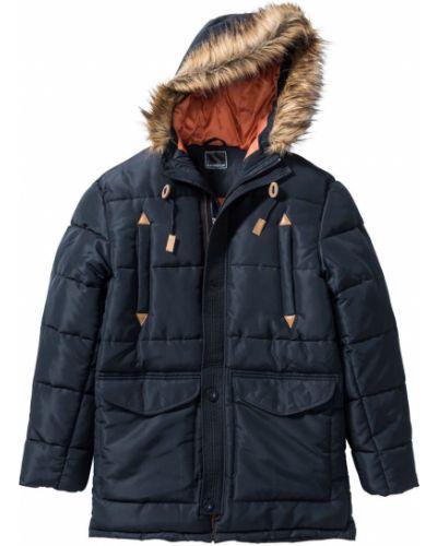 Зимняя куртка на молнии синяя Bonprix