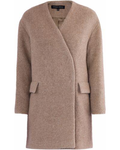 Укороченное пальто из альпаки шерстяное Alexander Terekhov